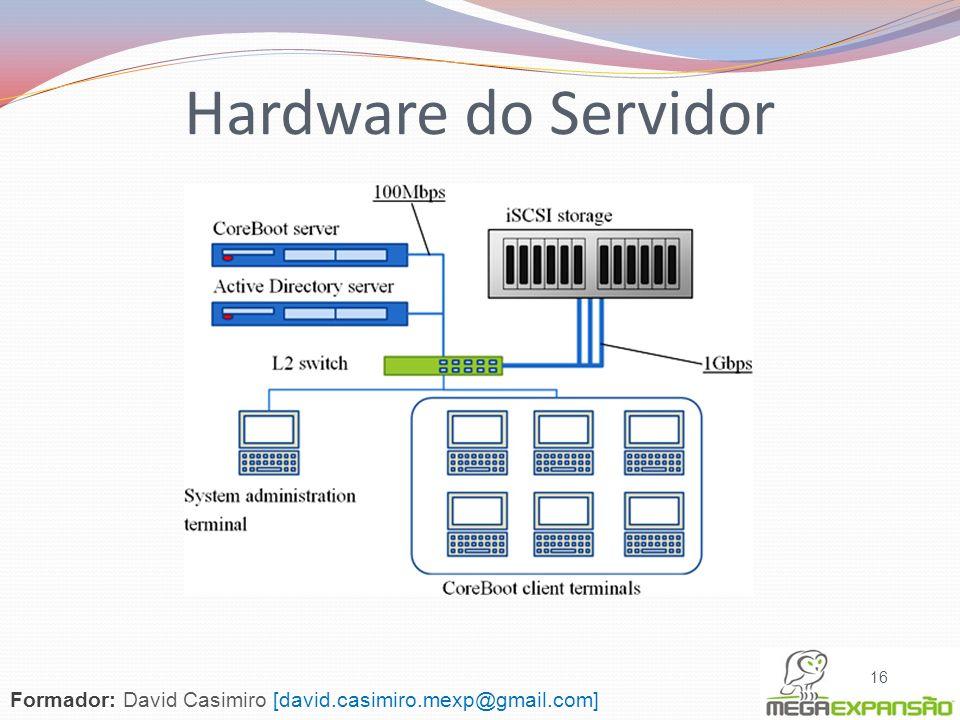 Hardware do Servidor Formador: David Casimiro [david.casimiro.mexp@gmail.com]